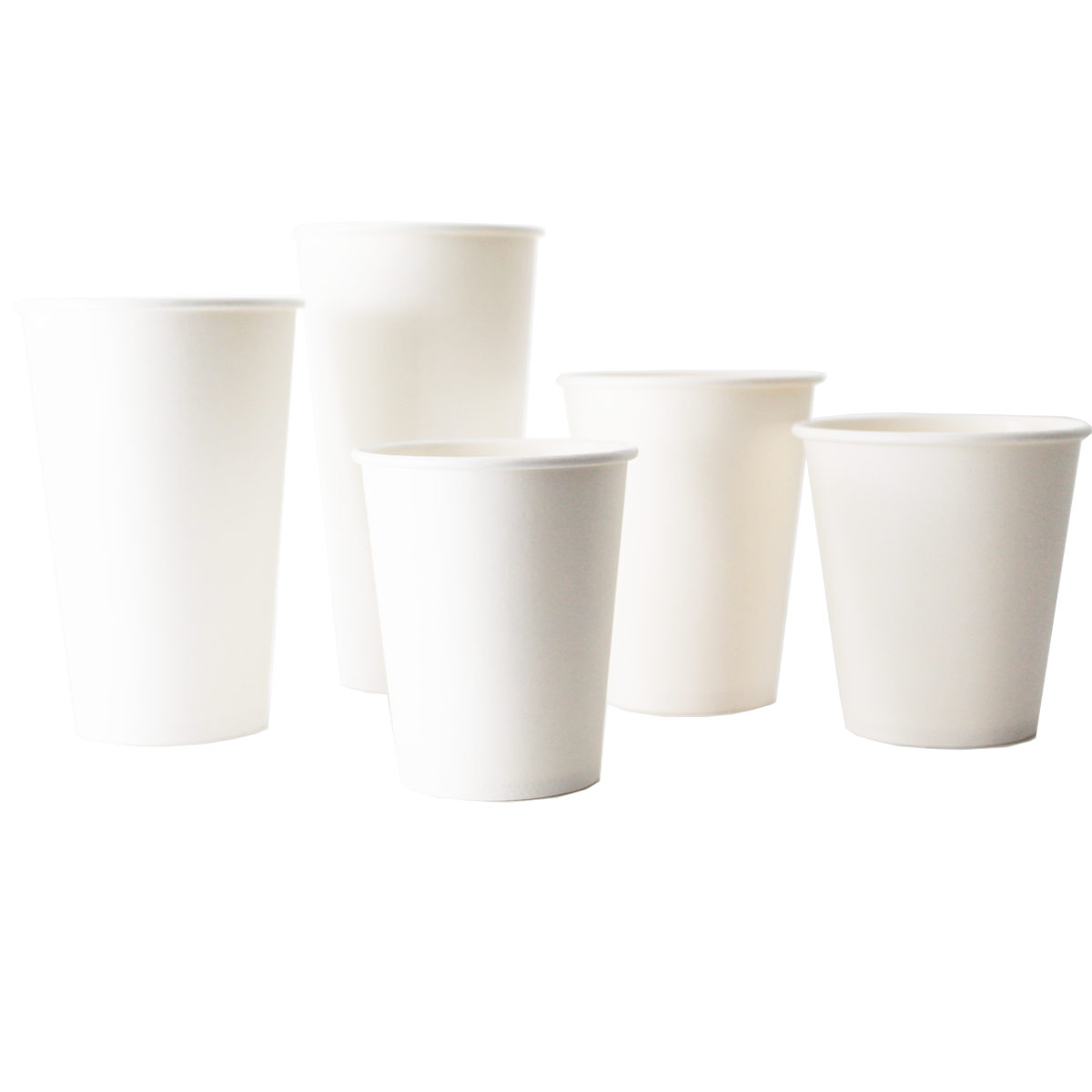 White Single Wall Cups